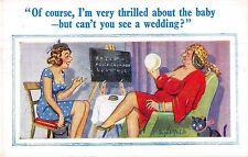 POSTCARD  COMIC   DONALD  McGILL   Fortune  Teller  Wedding