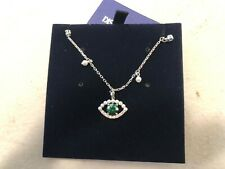 Swarovski Crystal Luckily Evil Eye Necklace Green Rhodium Plating 5429734