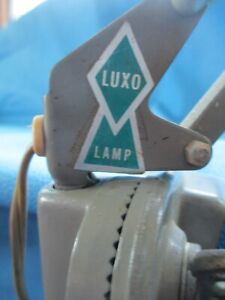 Luxo Mid Century Articulated Drafting Table Clamp On Lamp by LuxoSweden Rare