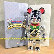Bearbrick Medicom 2019 Manekineko Lucky Cat Neko Silver Plated Ver #4 400%