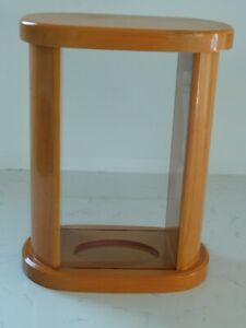 """12"""" x 9.5"""" x 5.75"""" Vintage Wood Display Double View Cabinet/ Case/ Holder/ Stand"""