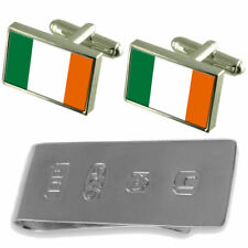 Ireland Flag Cufflinks & James Bond Money Clip