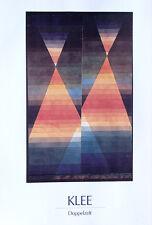 Paul Klee•DOUBLE TENT 1923•Doppelzelt•Bauhaus Color Poster O/P 20x32