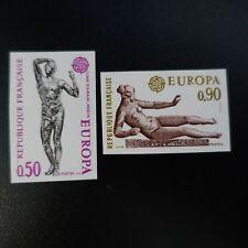 EUROPA RODIN MAILLOL NR.1789/1790 BRIEFMARKE NICHT GEZAHNT IMPERF 1974 LUXE MNH