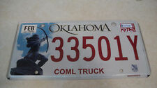 2012 Oklahoma commercial truck license plate