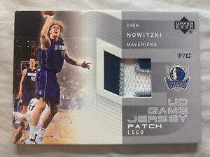 Dirk Nowitzki - 2002 Upper Deck UD Game Jersey Patch Logo SSP 1:5000 Packs Rare
