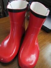 """WOMAN'S NOMAD """"TWO"""" RED RUBBER ANKLE BOOTS, SIZE 6, NWOB"""