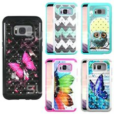 For Samsung Galaxy S8+ Plus / S8 Dual Layer Hard Phone Case Cover Diamond Bling