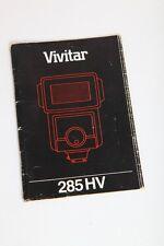 Vivitar 285 HV Flash Unit 285HV Instruction Manual+English++Original+NICE