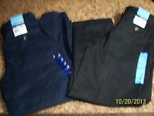 NWT Boys Size 10 Husky Basic Editions Flat Front Pants -2 In Lot-