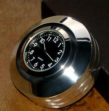 "New British Made ""Grooved"" Billet Harley V-Rod® Stem Nut Clock"