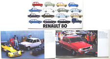 Renault 4 5 12 14 18 20 30 1979-80 Original UK Brochure