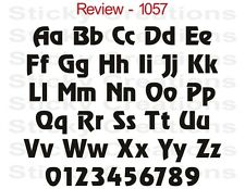 #1057 CUSTOM BOLD LETTERING Vinyl Graphic Text Sticker Windshield Decal Review