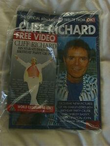 Cliff Richard - 60th Birthday Cruise Video + OK Souvenir Mag - Sealed - NOW RARE