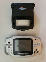 Nintendo Gameboy Advance Model AGB-001 Gray With Gamester light