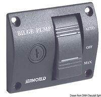 Bilge Pump Control Panel Switch 12V - Auto Off Manual - Universal - BPCPS1
