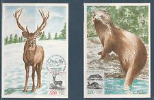 carte 1er jour  les 4 natures faune Buffon  75  Paris   1988