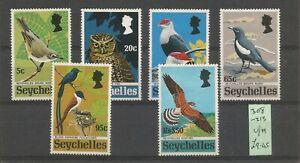 "SEYCHELLES 1972 FINE LIGHTLY MOUNTED MINT SET "" RARE BIRDS"" SG308 SG313"