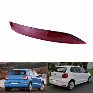 For 2014-2017 VW Polo Hatchback O/S Right Rear Bumper Reflector Lamp Red No Bulb