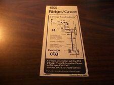 December 1980 Chicago Cta Route 203 Ridge/Grant Service Bus Schedule