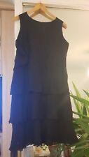 vestido negro con encaje parte superior 40 L vestito dress robe Kleid hoher NP