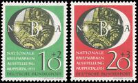 Germany #B318-B319 MNH CV$70.00 1951 NATL. PHILATELIC EXPO SET ex Perfectum