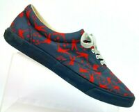 Bucketfeet Peace Warriors Gray/Red Slip On Canvas Lace Up Sneakers Men 10 EUR 43