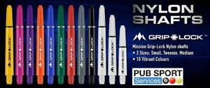 Mission Griplock Dart Stems/Shafts - 10 Colours - Short 34mm & Medium 48mm - New