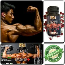 TESTO BOMB+ ANABOLIC STRONG LEGAL TESTOSTERONE MUSCLE BOOST NO STEROIDS 600 MG.