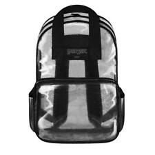 """Large 16"""" Clear Backpack Transparent School Bag Security Black NWT by EAST WEST"""