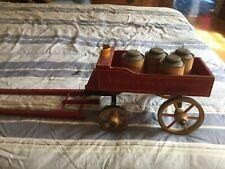 Vintage American Milk Company Wooden Toy Wagon