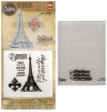 Tim Holtz Sizzix Framelits Dies & Stamps & Embossing Folder- Eiffel Tower, Paris