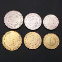 S-2] Slovenia Set 6 Coins, 1+2+5+10+20+50 Tolarjev, 2000-2006, UNC