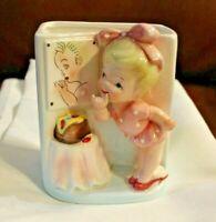 Relpo 1960 Planter Little girl w/ Mirror Made in Japan Samson Import 51128