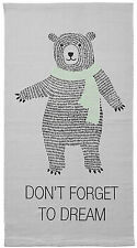 Bloomingville süßer Teppich Läufer Bär Kinderzimmer Teddy 60 120 cm grau Kinder