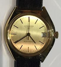 NOS NEUF DE STOCK  MONTRE LONGINES ELECTRONIC EN PLAQUE OR @ WATCH NEW OLD STOCK