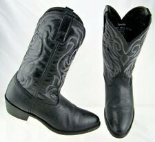 Laredo Style 28-1820 Black Leather Western Men's Cowboy Boots Size Us 10.5 D
