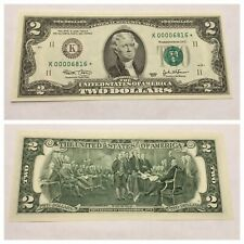 VINTAGE RARE 2003 STAR $2 DALLAS K TWO DOLLAR BILL FEDERAL RESERVE BANK NOTE UNC
