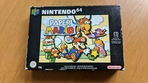 Paper Mario N64 Game Box PAL Rare   BOX AND MANUAL ONLY