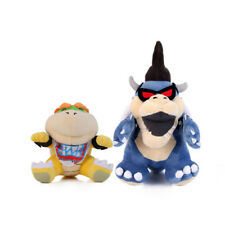 2pcs Super Mario Bros Dark Bowser Koopa and Koopa Jr. Figure Plush Toys