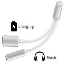 iPhone X/10 Ladegerät Adapter Kabel Lightning 3,5 mm AUX Kopfhörer Ladekabel