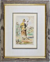 Antique Etching Print, J.F. MILLET Pencil Signed, Framed Very good Condition