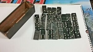 VINTAGE DOMINOES SET , EXTRA THICK, VINTAGE GAME PIECES