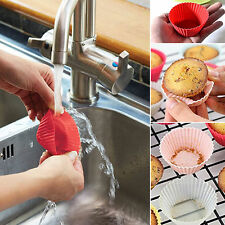 10 Pcs Silicone Gâteau Coupe Cuisson Cupcake Cases Muffin Moule Bake Mariage NF
