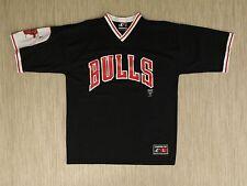 Vintage Chicago Bulls Black Red White Jersey Men's Size L Logo Athletics NBA