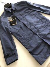 Montecore Trench Jacket Uomo Tg.46 Blu Chiaro