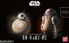 Bandai 1/12 Model Kit Star Wars The Force Awakens Astromech Droids BB-8 & R2-D2