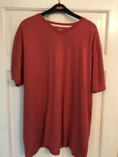 Mens EASY by Matalan Red T Shirt Size L Short Sleeve