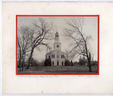 Midcentury Handmade Xmas Card w/Original Photo – Wayland Massachusetts