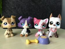 4x Littlest Pet Shop Lps Short Hair Cat Great Dane Collie Dogs #1542+Accessories